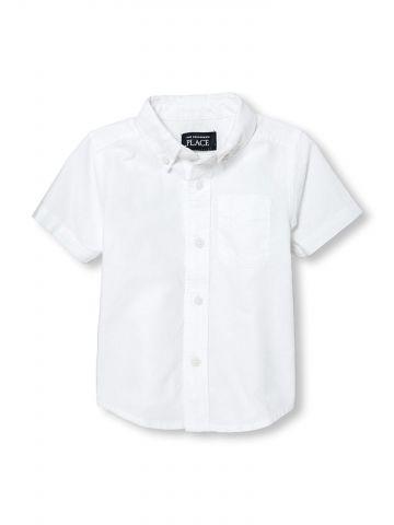 חולצה מכופתרת עם שרוולים קצרים / בייבי בנים