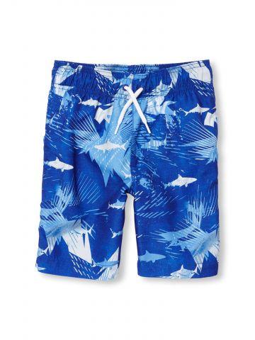 מכנסי בגד ים בהדפס כרישים / בנים