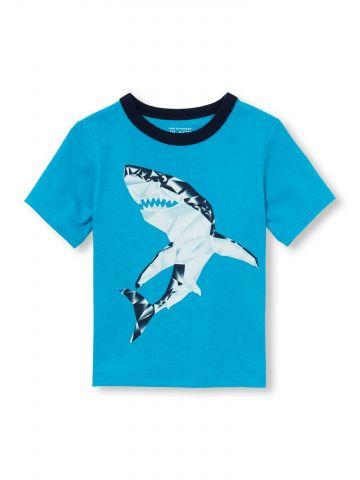 טי שירט עם הדפס כריש / בייבי בנים