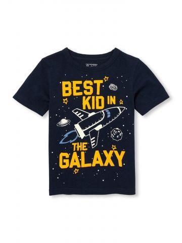 טי שירט גלקסיה הדפס זוהר בחושך / בייבי בנים