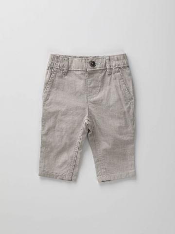 מכנסיים ארוכים בגזרה מחויטת / בייבי בנים