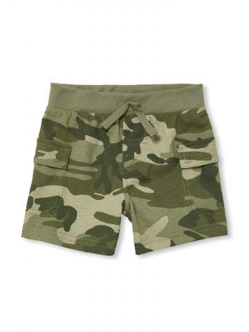 מכנסי טרנינג קצרים בהדפס קמופלאז' / בייבי בנים