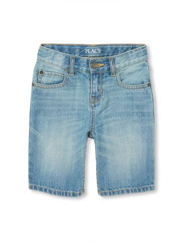 ג'ינס קצר בשטיפה בהירה / בנים