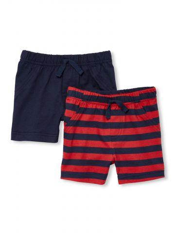 מארז 2 מכנסיים קצרים / בייבי בנים