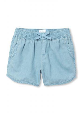 מכנסי ג'ינס קצרים עם כיסים בצדדים / בנות