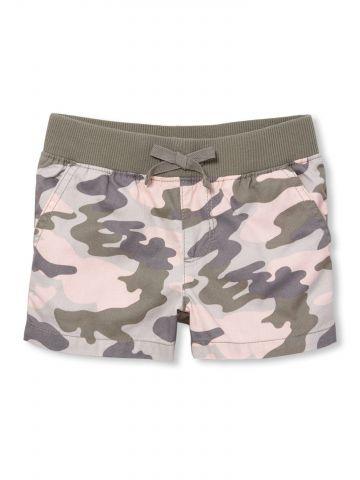 מכנסיים קצרים בהדפס קמופלאז' / בנות
