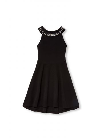 שמלת קולר עם עיטורי אבנים / בנות
