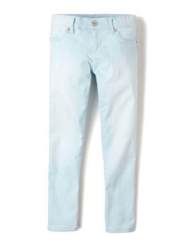 ג'ינס סקיני בשטיפה בהירה / בנות