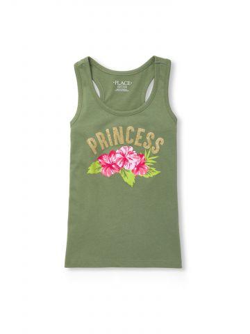 גופייה עם הדפס Princess גליטר / בנות