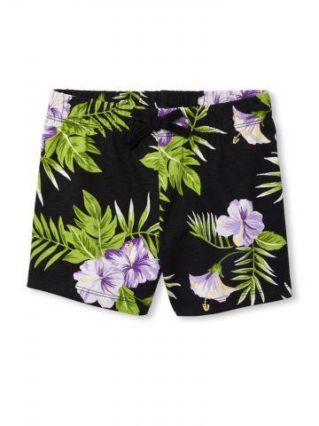 מכנסיים קצרים בהדפס טרופי / בנות