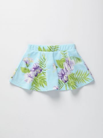 מכנסי חצאית בהדפס טרופי / 9M-2Y