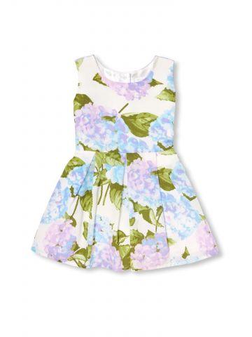 שמלת פליסה בהדפס פרחים / בייבי בנות