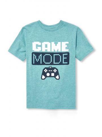 טי שירט עם הדפס Game Mode / בנים
