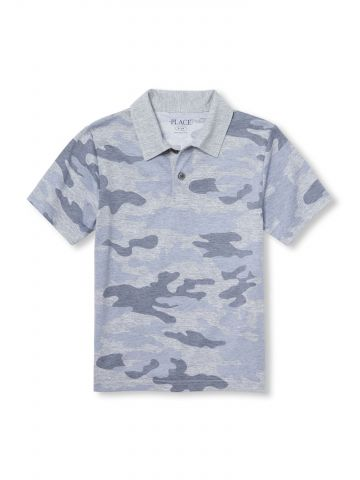 חולצת פולו בהדפס קמופלאז' / בנים