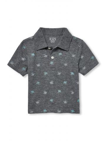 חולצת פולו בהדפס חייזרים / בייבי בנים