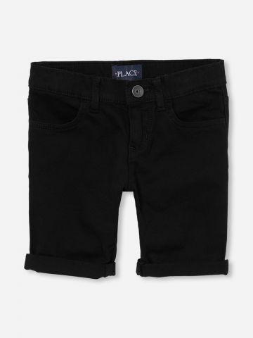 מכנסיים קצרים עם קיפול בסיומת / בנות