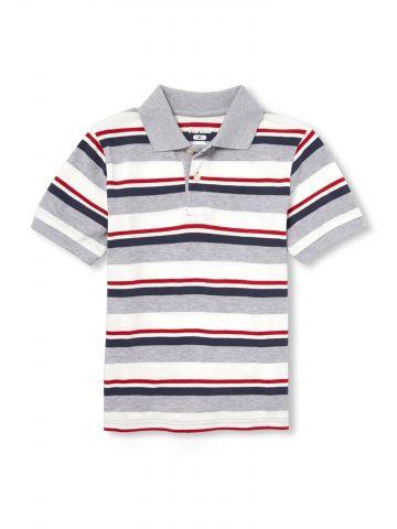 חולצת פולו בהדפס פסים מולטי קולור / בנים
