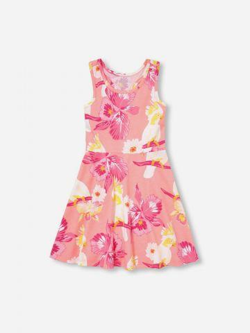 שמלת רייסר בהדפס פרחים / בנות