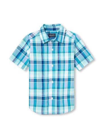 חולצת משבצות מכופתרת / בנים