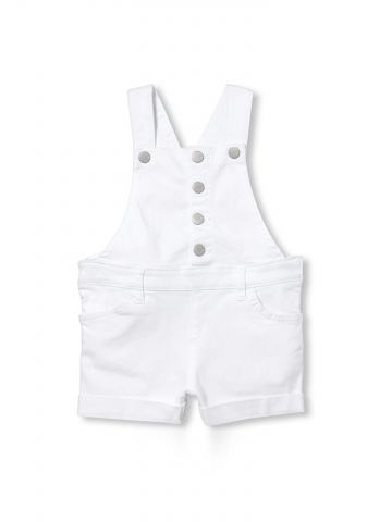 אוברול ג'ינס קצר עם כפתורים בחזית / בייבי בנות