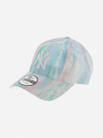 כובע מצחייה פסטל עם רקמת יאנקיז 9Forty / נשים