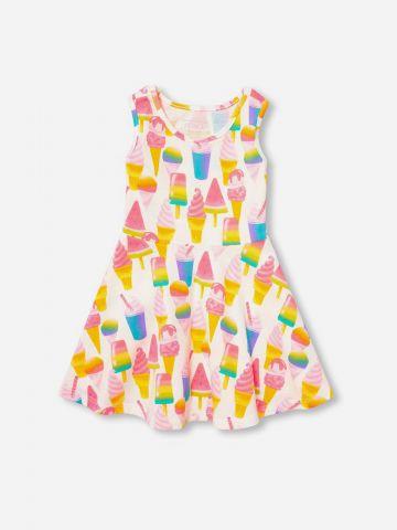 שמלה בהדפס גלידות / 9M-5Y