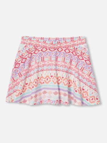 מכנסי חצאית מיני בהדפס מולטי / 6M-5Y