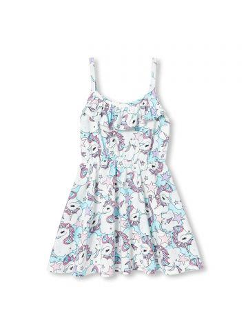 שמלה בהדפס יוניקורן / בנות