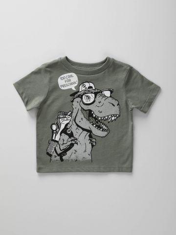 טי שירט עם הדפס דינוזאור / בייבי בנים
