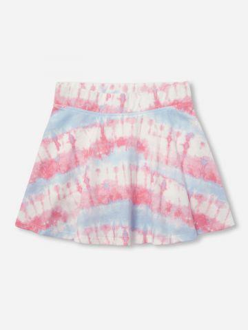 מכנסי חצאית מיני בהדפס טאי דאי / בנות