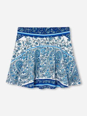 מכנסי חצאית מיני בהדפס פייזלי / בנות