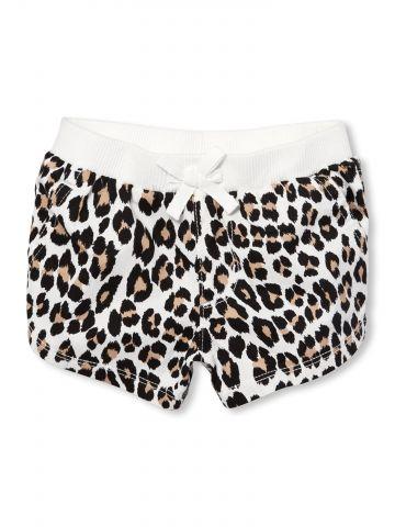 מכנסיים קצרים בהדפס מנומר / בייבי בנות