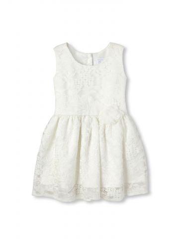 שמלת תחרה פרחונית / בייבי בנות