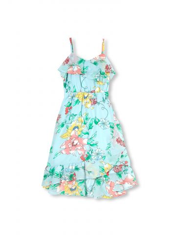 שמלה פרחונית בסגנון מעטפת / בנות