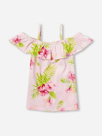 חולצת קולד שולדרס בהדפס פרחים / בנות