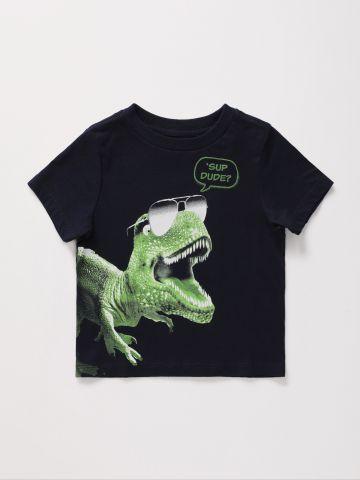 טי שירט בהדפס דינוזאור / 9M-4Y