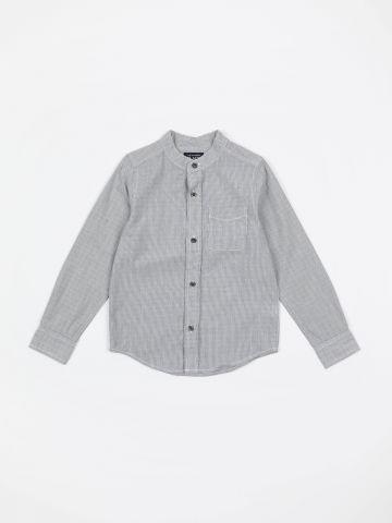 חולצה מכופתרת בהדפס פסים ונקודות / בנים
