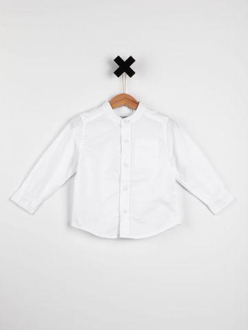 חולצה מכופתרת עם צווארון סיני / בייבי בנים