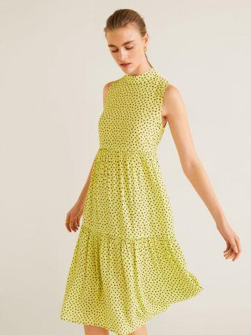 שמלת קומות מידי בהדפס נקודות
