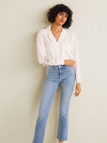ג'ינס ווש בגזרה ישרה