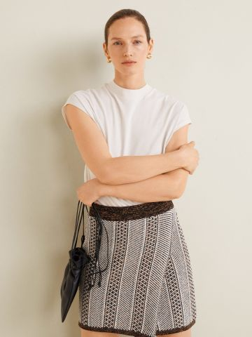 חצאית מיני סריג מעטפת