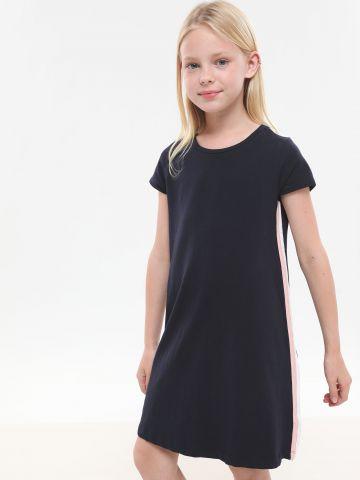 שמלת טי שירט עם סטריפים / בנות