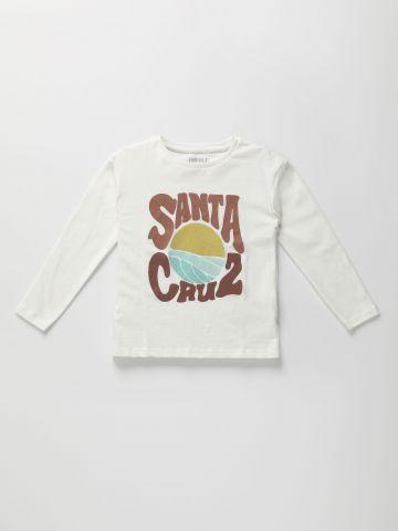 טי שירט שרוולים ארוכים עם הדפס Santa Cruz / בנים