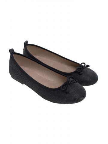 נעלי בובה מבריקות בעיטור פפיון / בנות