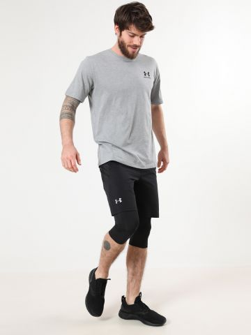 מכנסי ריצה בשילוב טייץ פנימי