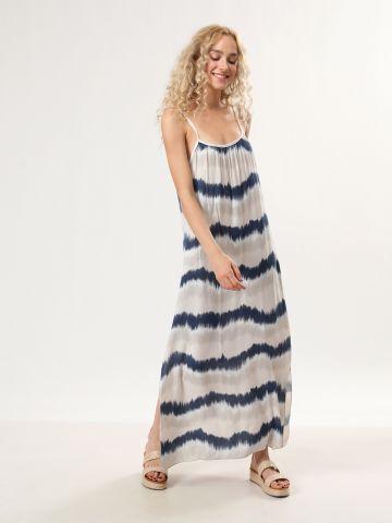 שמלת טאי דאי מקסי עם שסעים