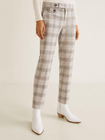 מכנסיים מחויטים בהדפס משבצות