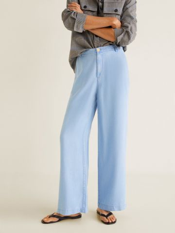 מכנסיים מתרחבים בגזרה גבוהה