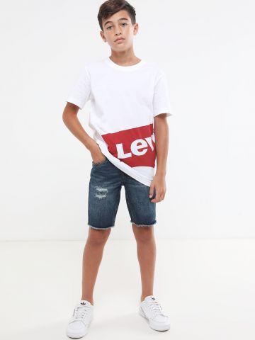ג'ינס קצר עם עיטורי קרעים 511