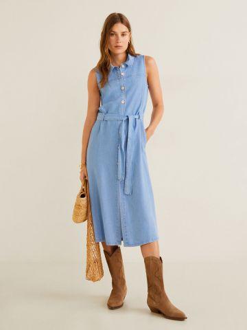 שמלת ג'ינס מידי מכופתרת